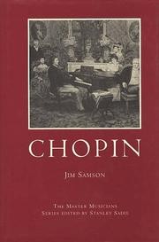 Cover of: Chopin (Master Musicians Series) | Jim Samson