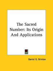 Cover of: The Sacred Number