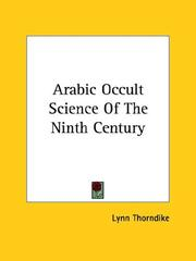 Cover of: Arabic Occult Science of the Ninth Century