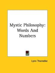 Cover of: Mystic Philosophy: Words And Numbers