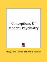 Cover of: Conceptions of modern psychiatry