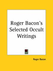 Cover of: Roger Bacon's Selected Occult Writings