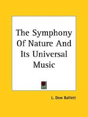 Cover of: The Symphony of Nature and Its Universal Music