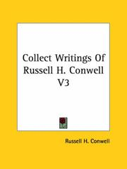 Cover of: Collect Writings of Russell H. Conwell