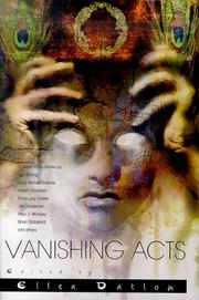 Cover of: Vanishing Acts: A Science Fiction Anthology