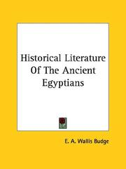 Historical Literature Of The Ancient Egyptians