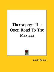 Cover of: Theosophy