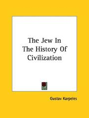 Cover of: The Jew In The History Of Civilization