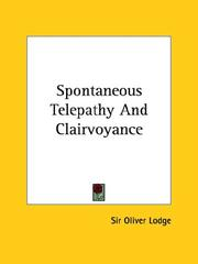 Cover of: Spontaneous Telepathy And Clairvoyance