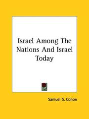 Cover of: Israel Among The Nations And Israel Today