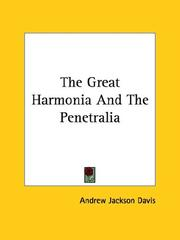 Cover of: The Great Harmonia And The Penetralia