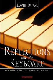 Cover of: Reflections from the keyboard | David Dubal