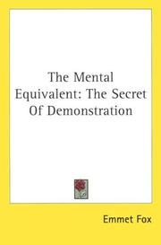 Cover of: The Mental Equivalent