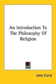 Cover of: An Introduction to the Philosophy of Rel