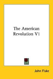 Cover of: The American Revolution V1
