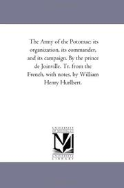 Cover of: The Army of the Potomac | Michigan Historical Reprint Series