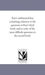 Cover of: Ray's arithmetical key