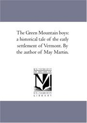 Cover of: The Green Mountain boys | Author unknown