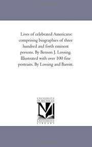 Cover of: Lives of celebrated Americans | Michigan Historical Reprint Series