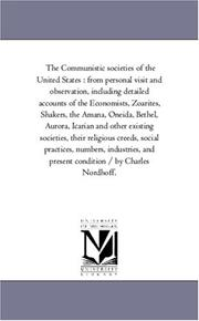 Cover of: The Communistic societies of the United States