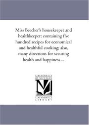 Cover of: Miss Beecher\'s housekeeper and healthkeeper
