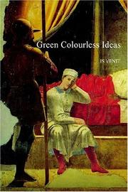 Cover of: Green Colourless Ideas | JS VENIT