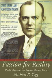 Cover of: Passion for Reality | Michael R. Yogg