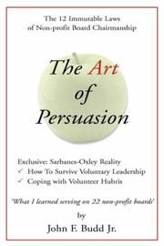 Cover of: Art of Persuasion | John F. Jr. Budd