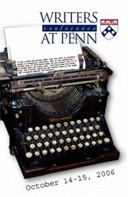 Writers Conference at Penn