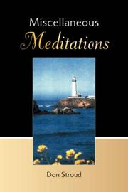 Cover of: Miscellaneous Meditations | Don Stroud