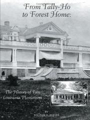 Cover of: From Tally-Ho to Forest Home | William D. Reeves