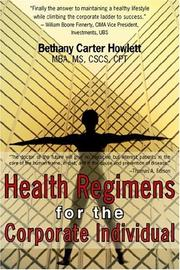 Cover of: Health Regimens for the Corporate Individual | Bethany , Carter Howlett