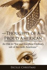 Cover of: Thoughts of A Proud American | Ercille Christmas