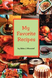 Cover of: My Favorite Recipes | Helen J. Moncrief