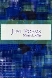 Cover of: Just Poems | Diane E. Alter