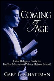 Cover of: Coming of Age | Gary D. Chattman