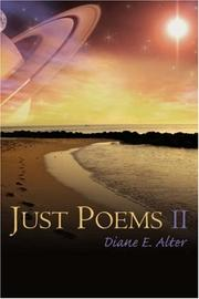 Cover of: Just Poems II | Diane E. Alter