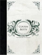 Cover of: Cousin Betty  (Large Print Edition) | HonorГ© de Balzac