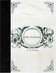 Cover of: Fire-Tongue  (Large Print Edition) | Sax Rohmer
