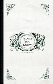 Cover of: People You Know