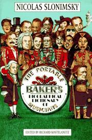 Cover of: The portable Baker's biographical dictionary of musicians | Nicolas Slonimsky