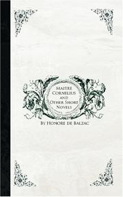 Cover of: Maitre Cornelius and Other Short Novels