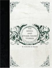 Cover of: The Adieu, and Other Short Stories