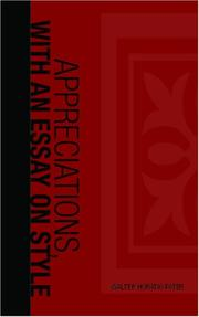 Cover of: Appreciations, with an Essay on Style