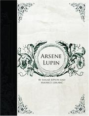 Cover of: Arsene Lupin (Large Print Edition) | Edgar Jepson, Maurice Leblanc