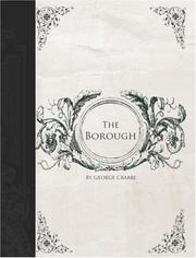 Cover of: The Borough (Large Print Edition) | George Crabbe