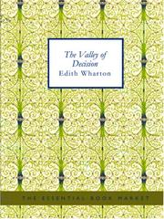 Cover of: The Valley of Decision (Large Print Edition) | Edith Wharton