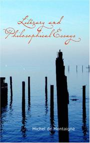 Cover of: Literary and Philosophical Essays: French, German and Italian