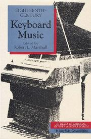 Cover of: Eighteenth-century keyboard music