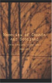 Cover of: Memories of Canada and Scotland